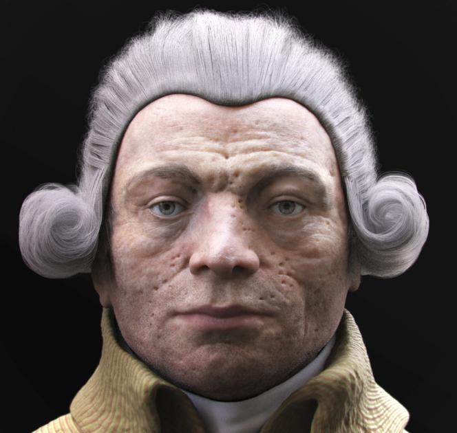 Reconstitution 3D du visage de Robespierre.