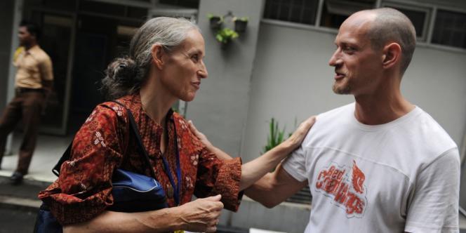 Hélène Le Touzey et Michaël Blanc, le 19 avril 2011 à Djakarta.