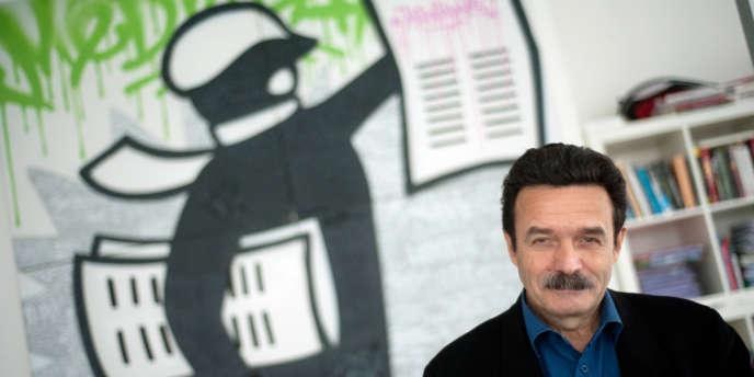 Edwy Plenel, fondateur du site Mediapart, en avril 2012.