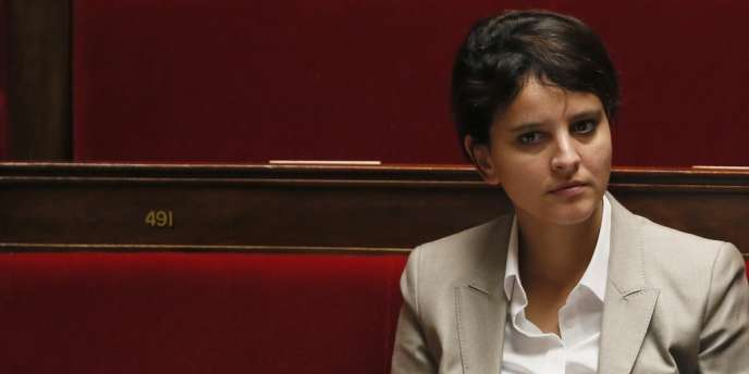 Najat Vallaud-Belkacem, ministre des sports; des droits des femmes; de la ville et de la jeunesse.