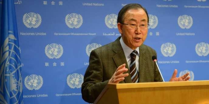 Le secrétaire général de l'Organisation des nations unies, Ban Ki-moon, le 19janvier à Genève.