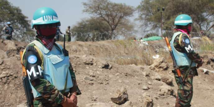 Des soldats de la Minuss, mission de l'ONU au Soudan du Sud, le 18 janvier à Bor.