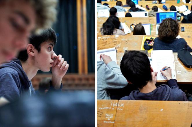 A Rennes-I, des cours sont ouverts à des élève de terminale scientifique. Ici, un cours d'astrophysique, le 17 janvier.