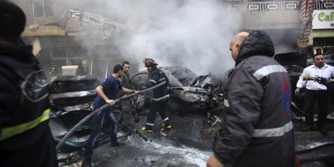Haret Hreik,  quartier du sud de Beyrouth, est considéré comme une place forte du mouvement chiite libanais Hezbollah.