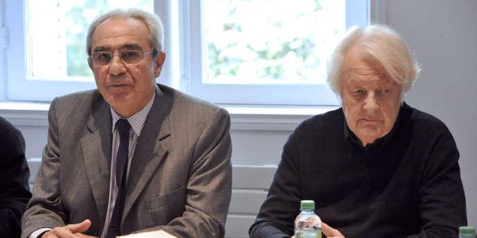 Les professeurs Bernard Debré et Philippe Even, le 23 octobre 2012.