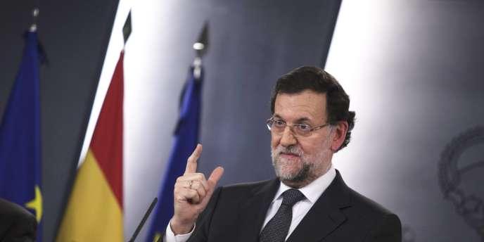 Le premier ministre conservateur espagnol, Mariano Rajoy, en janvier 2014.