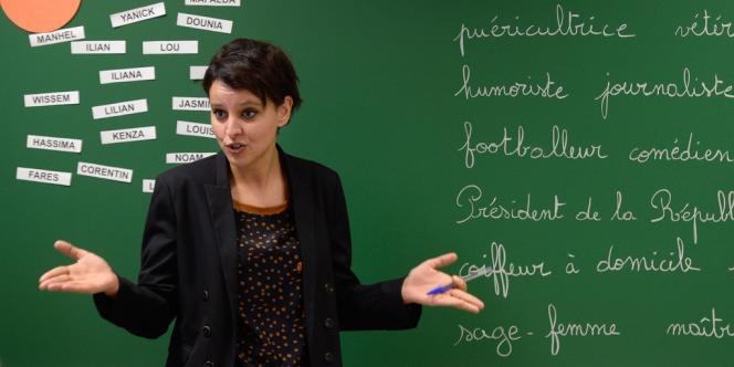 Najat Vallaud-Belkacem, le 13 janvier à Villeurbanne.