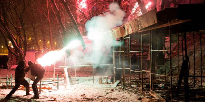 Dans le centre de Kiev, en Ukraine, le 21 janvier 2014.