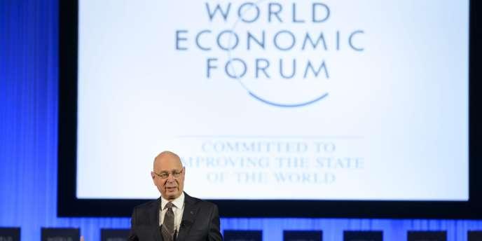 Klaus Schwab, fondateur et président du Forum économique mondial, mardi 21 janvier, à Davos.