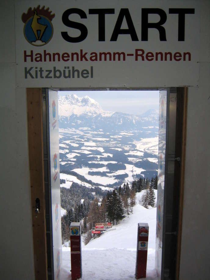 Au départ du Streif, à Kitzbühel, en Autriche