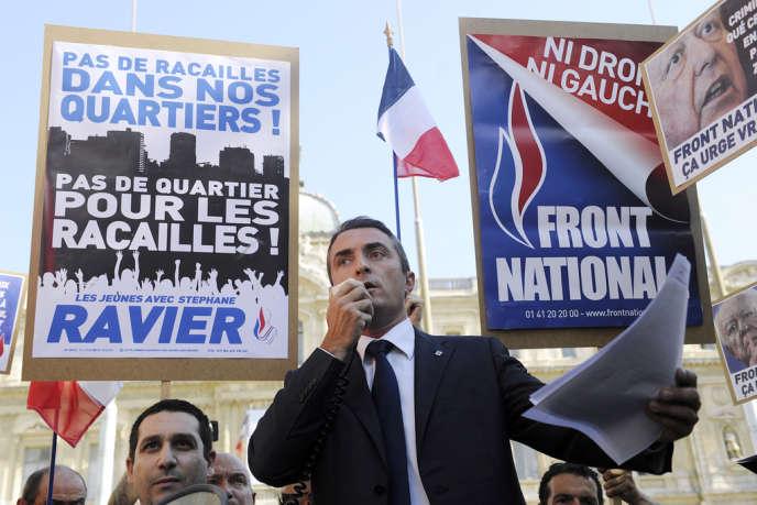Stéphane Ravier, candidat du FN à la mairie de Marseille, le 14 août 2013.