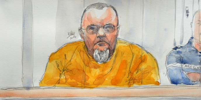 Croquis d'Alain Penin à la cour d'assises de Douai, le 20 janvier.