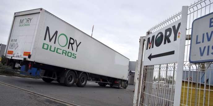 Centre du transporteur Mory Ducros à Gonesse (Val-d'Oise), ennovembre2013.
