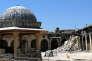 Le minaret de la mosquée de Omeyyades (VIIIe-XIIIe siècles), à Alep, s'est effondré le 25 avril 2013. Rebelles et régime s'accusent l'un l'autre de sa destruction..