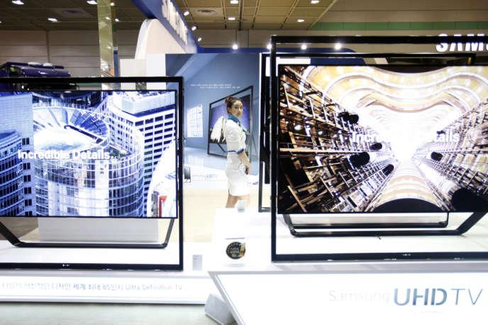 L'espace Samsung, en mai 2013, à Séoul, lors du World IT Show, la grande Foire commerciale sud-coréenne.