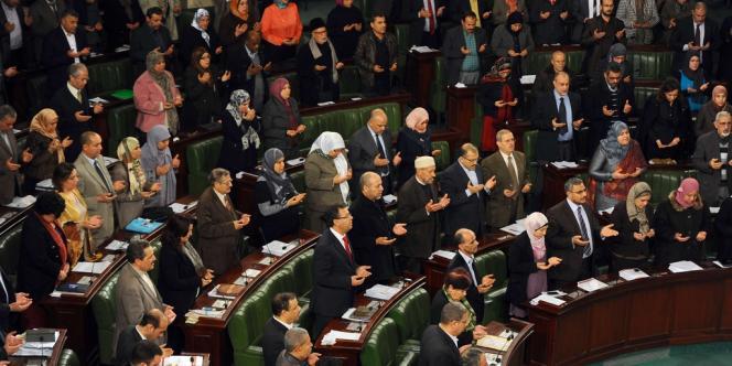 Réunion de l'Assemblée nationale constituante le 23 janvier à Tunis.