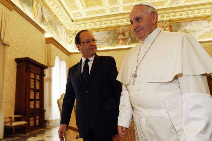 François Hollande et le pape François, le 24 janvier au Vatican.