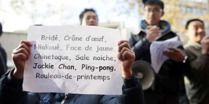 Manifestation contre le racisme anti-chinois organisée par l'association