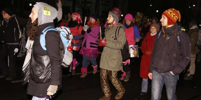 Manifestation contre le bal annuel de l'extrême droite à Vienne, le 24 janvier.