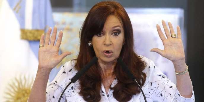 Cristina Kirchner le 22 janvier à Buenos Aires.