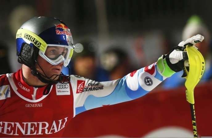 Alexis Pinturault, vainqueur à Kitzbühel du super-combiné, le 26 janvier.
