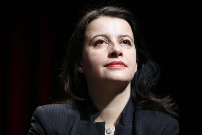 Cécile Duflot  en janvier 2014 à Cergy-Pontoise (Val-d'Oise).