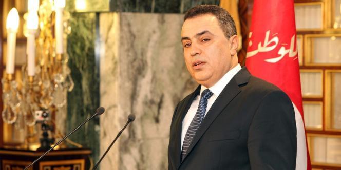 Le premier ministre tunisien, Mehdi Jomaa, lors de la cérémonie de présentation du nouveau gouvernement au palais présidentiel de Carthage près de Tunis, le 26 janvier.