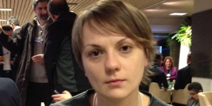 Nataliya Gumenyuk, au Forum économique mondial de Davos, a expliqué qu'elle retournerait en Ukraine pour suivre la contestation.