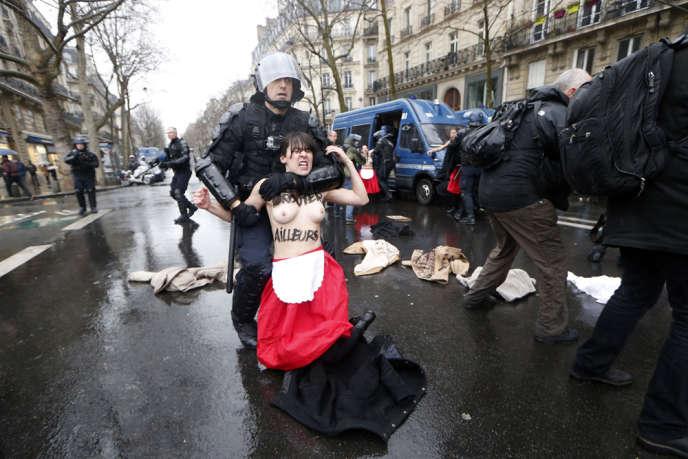 Des membres des Femen sont intervenues en marge de la manifestation