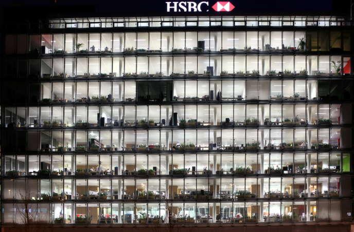 La façade de la banque HSBC à Genève.