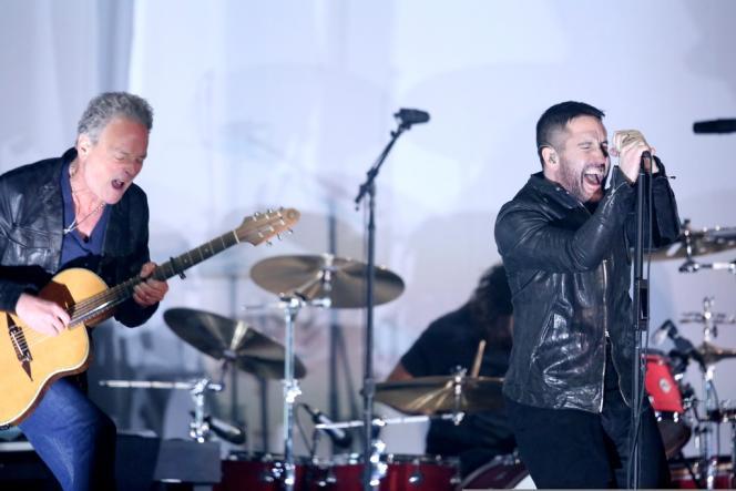 Trent Reznor et Lindsey Buckingham, à fond, le 26 janvier.