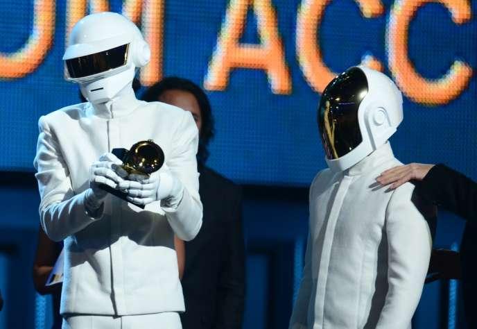Les Daft Punk aux Grammy Awards à Los Angeles, le 26 janvier.