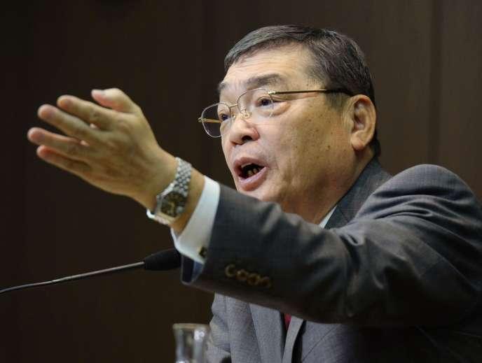 Katsuto Momii, nouveau président de la NHK, le 25 janvier 2014.