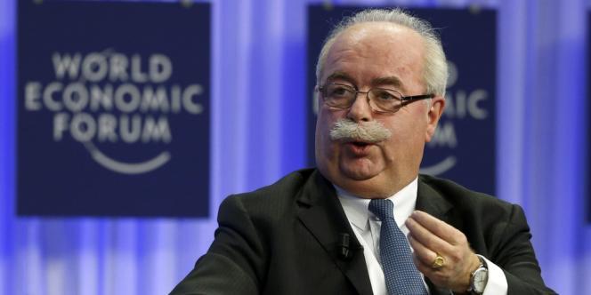 Christophe de Margerie, PDG de Total, au forum économique de Davos, le 25 janvier.
