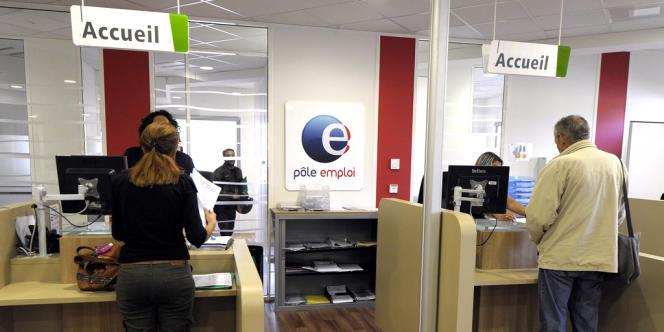 Dans une agence Pôle emploi de Montpellier, en octobre 2013.