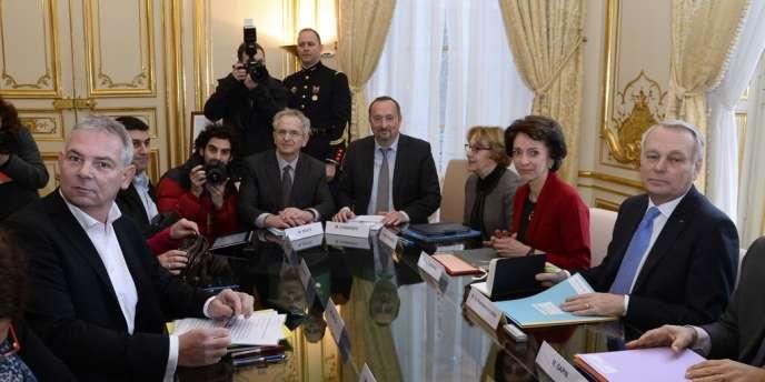 C'est avec la CGT que Jean-Marc Ayrault a ouvert, lundi 27 janvier, sa concertation sur le pacte de responsabilité.