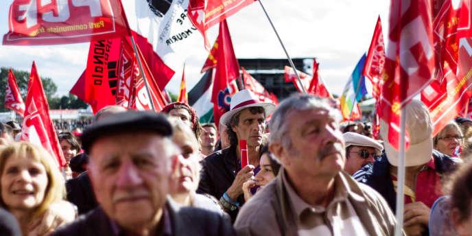 Pendant la Fête de l'Humanité à La Courneuve, le 15 septembre 2013.