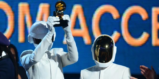 Les Daft Punk aux Grammy Awards à Los Angeles, le 26 janvier 2014.