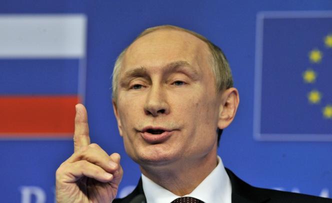 Vladimir Poutine au sommet de Bruxelles consacré à l'Ukraine, le 28 janvier.