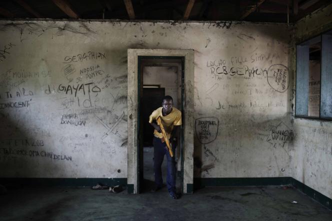Dans l'ancienne résidence de Bokassa