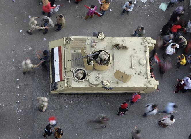 Au Caire, le 25 janvier, lors du troisième anniversaire de la révolution égyptienne.
