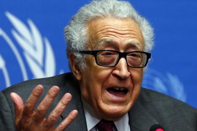 Le médiateur de l'ONU pour la Syrie, Lakhdar Brahimi, à Genève le 27 janvier.