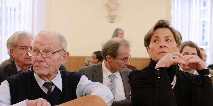 Les parents de Vincent Lambert, Pierre et Viviane, au tribunal administratif de Châlons-en-Champagne, le 15 janvier.