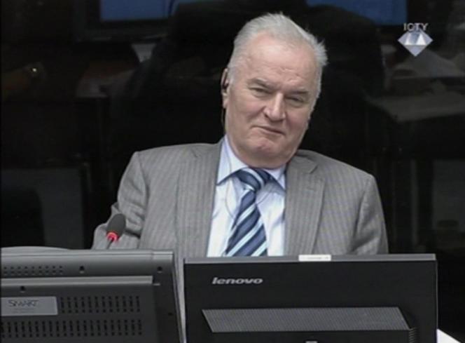 Ratko Mladic, le 28 janvier à La Haye.