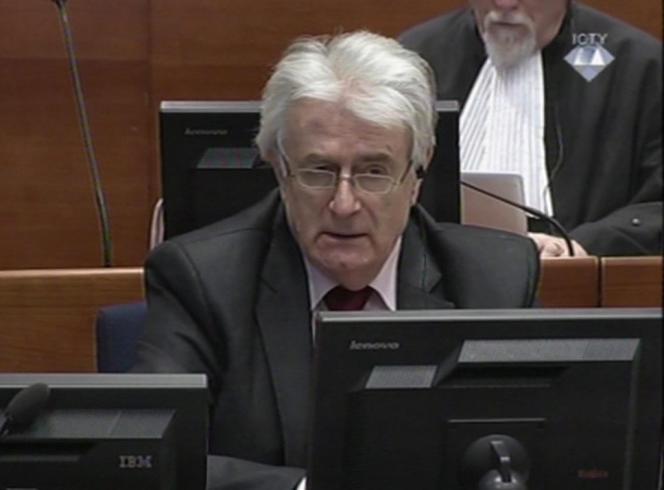 Radovan Karadzic, en janvier à La Haye.