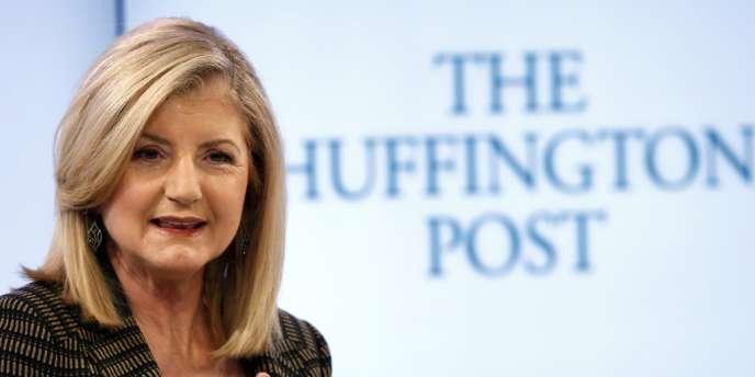 Arianna Huffington lance au Brésil la première déclinaison en Amérique du Sud du site du même nom — ici le 25 janvier à Davos.