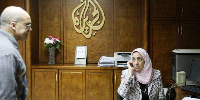 Au siège d'Al-Jazira, au Caire, en janvier2011.