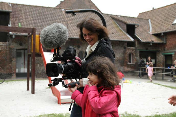 Mariana Otero sur le tournage du documentaire