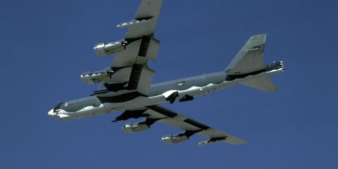 Photo non-datée d'unn bombardier  B-52 américain, publiée par l'US Air force en 2007.