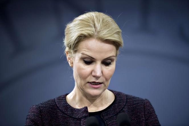 Helle Thorning-Schmidt, premier ministre du Danemark, lors d'une conférence de presse donnée à Copenhague le 30 janvier.